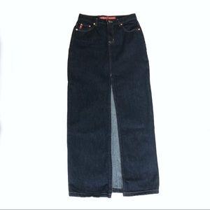 Guess Denim Maxi Skirt Y2K 90s